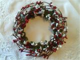4 Pip Berry Candle Rings One 4 Quot Pip Berry Candle Ring or Wreath Red White Berries