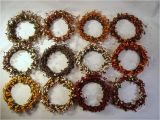 4 Pip Berry Candle Rings Pip Berry 4 Quot Candle Ring Wreath Color Variations Ebay