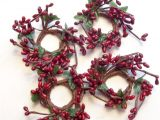 4 Pip Berry Candle Rings Set Of 4 Pip Berry Candle Rings Burgundy Red 1 Quot Opening