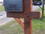 6×6 Mailbox Post Plans 6×6 Cedar Mailbox Post