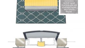 8×10 Rug Under A Queen Bed What Size Rug Fits Under A King Bed Design by Numbers Living