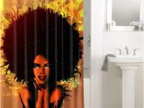 African American Bathroom Sets Afrocentric Afro Hair Design African 643 Shower Curtain