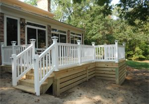 Alternatives to Lattice for Deck Skirting Horizontal Deck Skirting Final Photos Of Pressure Treated Deck In