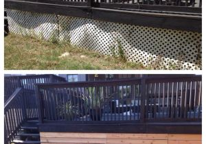 Alternatives to Lattice for Deck Skirting Lattice Alternative Under the Deck so Easy House Pinterest