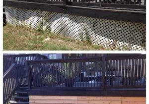 Alternatives to Lattice for Deck Skirting Lattice Alternative Under the Deck so Easy House Pinterest
