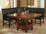 American Freight Furniture Metairie Salem 4 Piece Breakfast Nook Dining Room Set Table Corner Bench