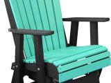 Amish Outdoor Furniture Sugarcreek Ohio Poly Glider Ohio Amish Outdoor Arubablue Blackadirondack