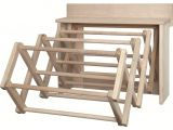 Amish Wooden Drying Rack for Clothes Handmade Amish Maple Folding Drying Rack Wall Unit 25 5