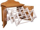Amish Wooden Drying Rack for Clothes Used Clothing Rack Amazing Heavy Duty Rail Wheel