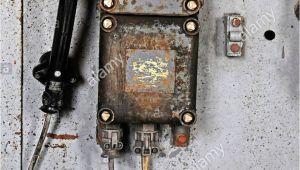 Antique Mining Cart for Sale Old Telephone Turbine House Zeche Hannover Mine Lwl Stock Photo