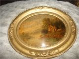 Antique Oval Picture Frames Bubble Glass Clearnce Sale Antique Miniature Oval Painting Under Convex Glass