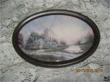 Antique Oval Picture Frames Bubble Glass Reduced Antique Early 1900 S Victorian Windmill House by Water Print