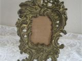 Antique Oval Picture Frames Bubble Glass Vintage solid Brass ornate Kick Stand Picture Frame 14 95 Picclick