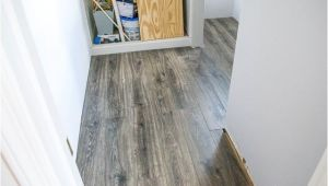 Aquaguard Smoky Dusk Water Resistant Laminate Flooring In the Bathroom and Laundry Room Infarrantly