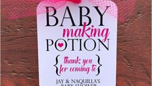 Baby Making Potion Tags Baby Making Potion Baby Shower Wine Tags Mini Wine Bottle
