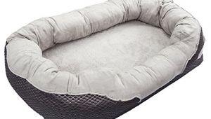 Barksbar Medium Gray orthopedic Dog Bed Barksbar Gray orthopedic Dog Bed Snuggly Sleeper with
