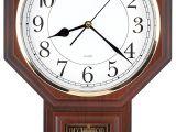 Battery Operated Clock Movements with Pendulum Amazon Com Traditional Schoolhouse Easy to Read Pendulum Plastic