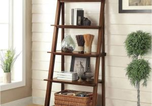Bayside Furnishings Ladder Bookcase Bayside Furnishings Ladder Bookcase with 5 Fixed Shelves