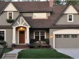 Benjamin Moore Copley Gray and Elephant Tusk Great Curb Appeal Home Exterior Paint Color Ideas the