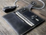 Best Type Of Leather for Wallets Chain Leather Wallet for Men