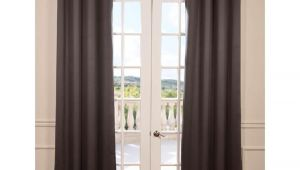 Burlap French Door Curtains Linen Curtains Elle Decor Gray Burlap Curtains Farmhouse Curtains