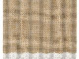 Burlap Shower Curtain with Lace Items Similar to Simple Burlap and Lace Shower Curtain