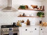 Butcher Block Floating Shelves Modern Farmhouse Kitchen Decor Ideas 32 Home Kitchen