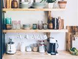 Butcher Block Floating Shelves Our Kitchen Renovation Full Reveal Open Shelving butcher Blocks