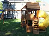 Cedar Summit Kingsbridge Playset New England Playset assembly Uxbridge Ma Playset