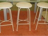 Charleston forge Iron Bar Stools Set Of Three Charleston forge Co Iron Bar Stools