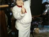 Chef Statues Life Size Pizza Chef with Menu Board 6 Ft Pizza Chef with Menu