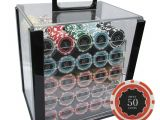 Clay Poker Chip Sets 1000 1000 14g Eclipse Casino Clay Poker Chips Set Acrylic Case