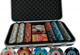 Clay Poker Chip Sets with Denominations 300 Pcs Casino Quality Pure Clay Poker Set for Home Game