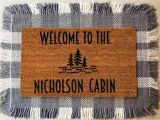 Come Back with Tacos Doormat Tree Cabin Doormat Lake Cabin Personalized Mat Modern Etsy