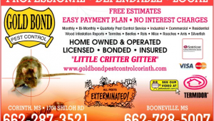Critter Gitter Pest Control Inc Gold Bond Pest Control Inc Corinth Ms 38835 Yellowbook