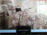 Cynthia Rowley Bedding Duvet Set Paisley King Comforter Sets Size Duvet Covers Blue Luxury