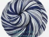 Dallas Cowboys Colors Yarn Dyed to order Self Striping sock Yarn Blue Gray