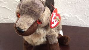 Derby Beanie Baby Value Ty Howl Wolf Beanie Baby original with Tag 2000 Beanbag Plush