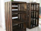 Diy Wood Crate Nightstand Bloombety Crates Diy Nightstand with Green Glass Diy