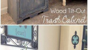 Double Tilt Out Trash Bin Ikea Wood Tilt Out Trash Can Cabinet Home Pinterest Trash Can