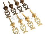 Drop Pulls for Dressers 4x Cool Brass Furniture Drawer Pull Handle Cabinet Jewelry Box Door