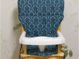 Eddie Bauer High Chair Seat Cover Eddie Bauer Wood High Chair Cover Pad Turquoise Blue and