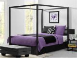 Extra Sturdy Queen Bed Frame Queen Size Modern Canopy Bed In Sturdy Grey Metal Bedroom Decor