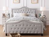 Extra Sturdy Queen Bed Frame Shop Virgil Upholstered Tufted Fabric Queen Bed Set by Christopher