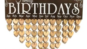 Family Birthday Board Kit Australia Vorcool Family Birthday Board Plaque Diy Hanging Wooden Birthday
