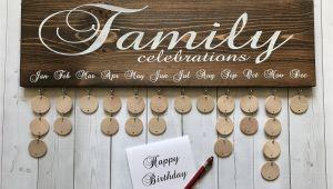 Family Birthday Board Kit Canada Family Celebrations Board with Natural Discs Birthday Etsy