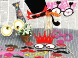 Family Birthday Board Kits Putwo Photo Booth Props Kit for Birthday Party Party Supplies Party
