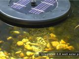 Floating solar Fountain Pump Pond Aerator Pond Boss solar Floating Pond Aerator Youtube
