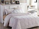 Fluffy Down Alternative Comforter Amor Amore White soft Fluffy Reversible solid Beding