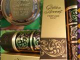 Fuller Brush Products.com Vintage Fuller Brush Golden Accent Perfume Mist Bottle and Box 2 Oz